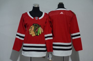 Youth Blackhawks Blank Red Youth Adidas Jersey