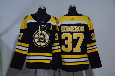 Youth Bruins 37 Patrice Bergeron Black Youth Adidas Jersey