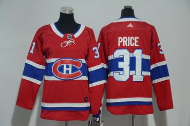 Youth Canadiens 31 Carey Price Red Youth Adidas Jersey