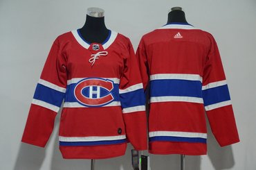 Youth Canadiens Blank Red Youth Adidas Jersey