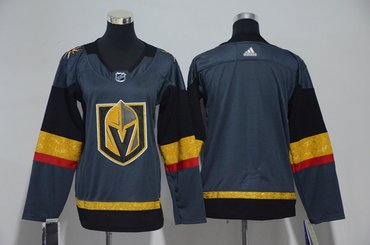 Youth Custom Vegas Golden Knights Blank Gray Jersey