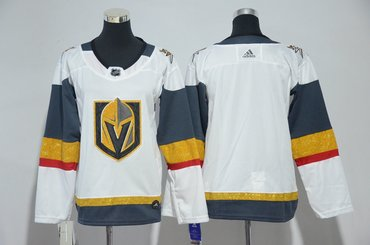 Youth Custom Vegas Golden Knights Blank White Jersey