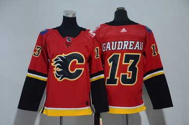 Youth Flames 13 Johnny Gaudreau Red Youth Adidas Jersey