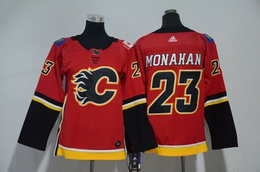 Youth Flames 23 Sean Monahan Red Youth Adidas Jersey