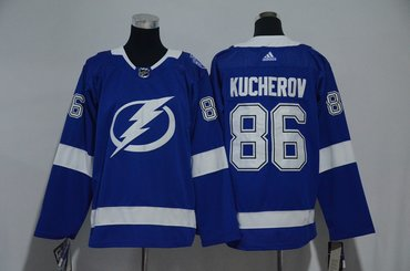 Youth Lightning 86 Nikita Kucherov Blue Youth Adidas Jersey