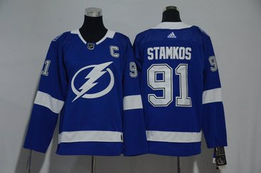 Youth Lightning 91 Steven Stamkos Blue Youth Adidas Jersey