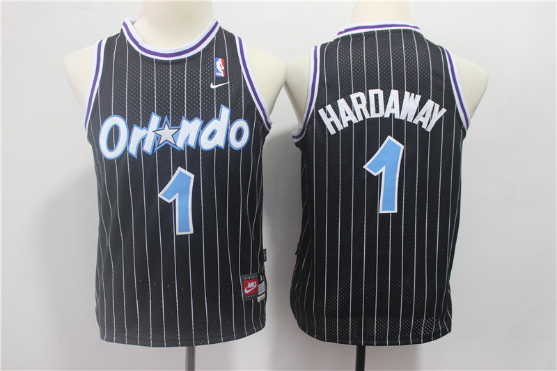 Youth Magic 1 Penny Hardaway Black Youth Nike Throwback Jersey