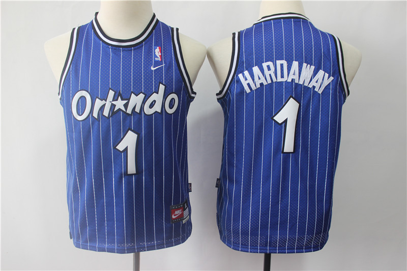 Youth Magic 1 Penny Hardaway Blue Youth Nike Throwback Jersey