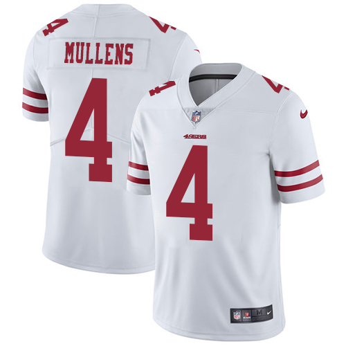 Youth Nike 49ers #4 Nick Mullens White Youth Stitched jerseyssite.net NFL Vapor Untouchable Limited Jersey