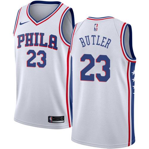 Youth Nike 76ers #23 Jimmy Butler White Youth NBA Swingman Association Edition Jersey
