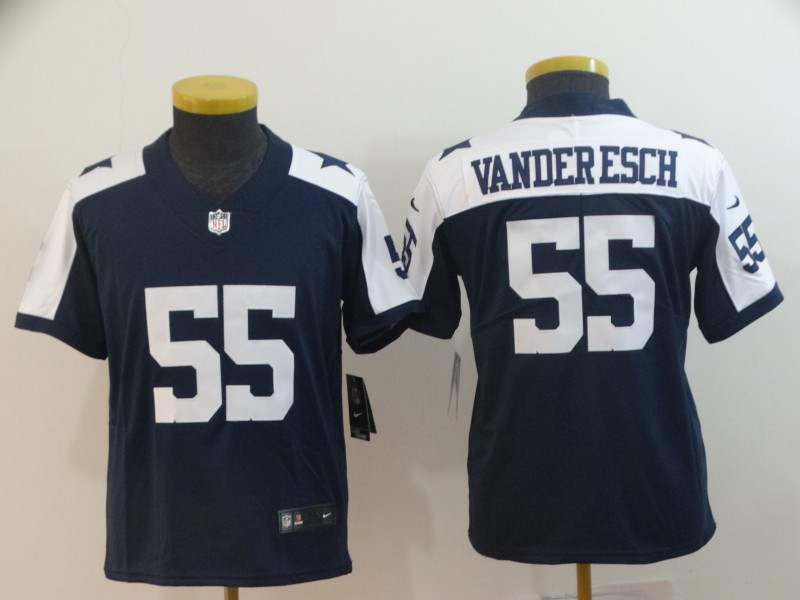 Youth Nike Cowboys 55 Leighton Vander Esch Navy Alternate Youth Vapor Untouchable Limited Jersey