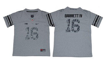 Youth Ohio State Buckeyes 16 J.T. Barrett IV Gray Youth College Football Jersey
