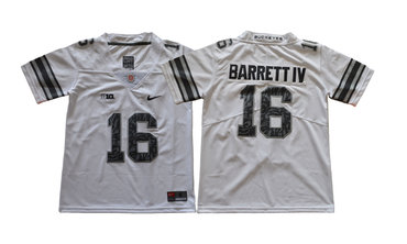 Youth Ohio State Buckeyes 16 J.T. Barrett IV White Youth College Football Jersey