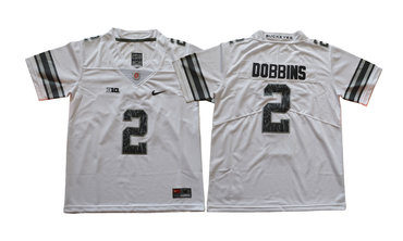Youth Ohio State Buckeyes 2 J.K. Dobbins White Youth College Football Jersey