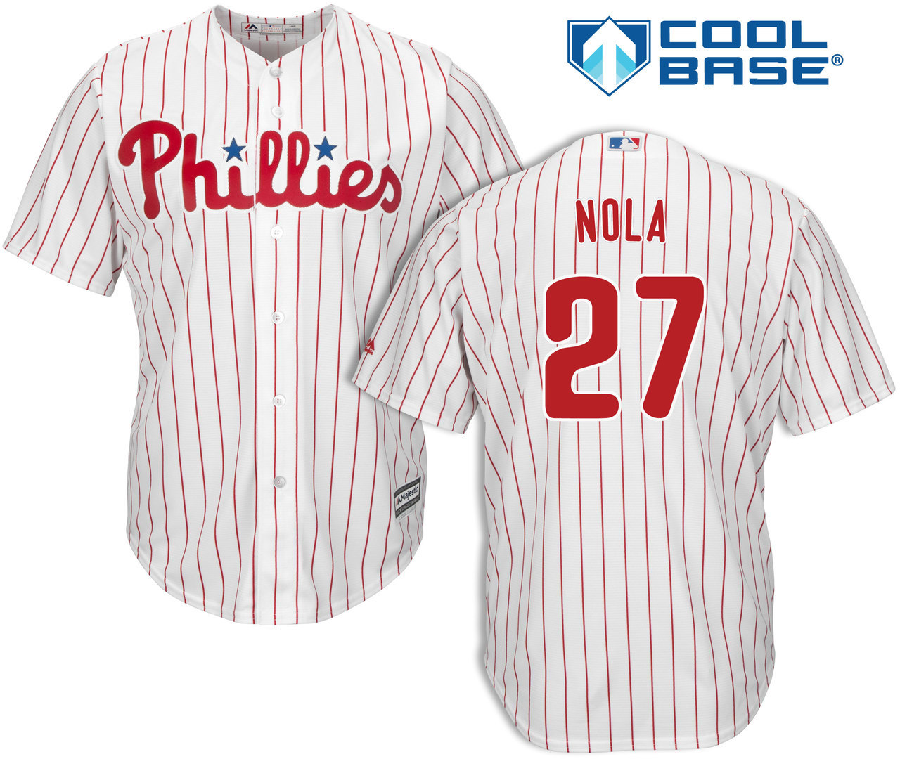 Youth Philadelphia Phillies #27 Aaron Nola White Cool Base MLB Jersey