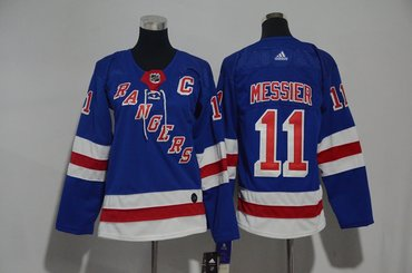Youth Rangers 11 Mark Messier Blue Youth Adidas Jersey