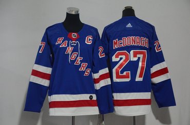 Youth Rangers 27 Ryan McDonagh Blue Youth Adidas Jersey