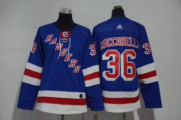 Youth Rangers 36 Mats Zuccarello Blue Youth Adidas Jersey