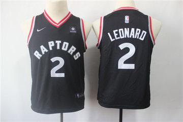 Youth Raptors 2 Kawhi Leonard Black Youth Nike Swingman Jersey