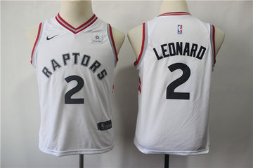 Youth Raptors 2 Kawhi Leonard White Youth Nike Swingman Jersey