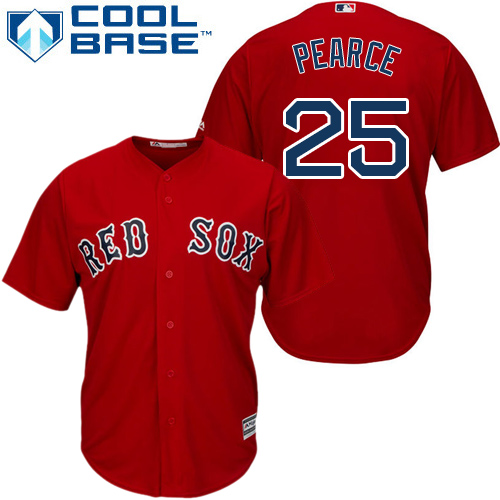 Youth Red Sox #25 Steve Pearce Red Cool Base Stitched Youth MLB Jersey