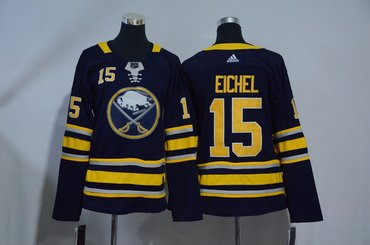 Youth Sabres 15 Jack Eichel Navy Youth Adidas Jersey
