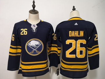 Youth Sabres 26 Rasmus Dahlin Navy Youth Adidas Jersey