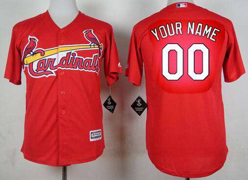 Youth St. Louis Cardinals Customized Red Jersey