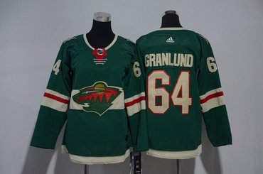 Youth Wild 64 Mikael Granlund Green Youth Adidas Jersey