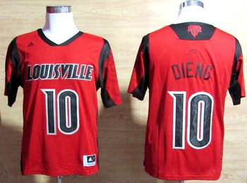 adidas Louisville Cardinals 2013 March Madness Gorgui Dieng 10 Authentic Jersey - Red