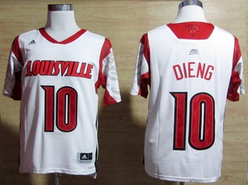 adidas Louisville Cardinals 2013 March Madness Gorgui Dieng 10 Authentic Jersey - White