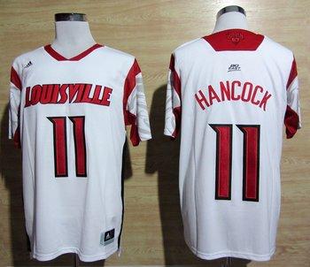adidas Louisville Cardinals 2013 March Madness Luke Hancock 11 Authentic Jersey - White