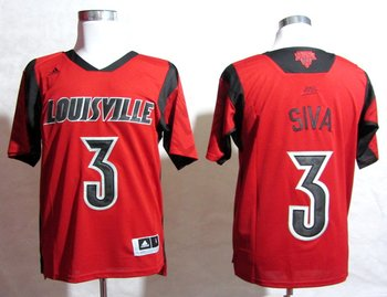 adidas Louisville Cardinals 2013 March Madness Peyton Siva 3 Authentic Jersey - Red