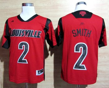 adidas Louisville Cardinals 2013 March Madness Russ Smith 2 Authentic Jersey - Red