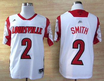 adidas Louisville Cardinals 2013 March Madness Russ Smith 2 Authentic Jerseys - White