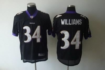 baltimore ravens #34 ricky williams black jerseys