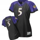 baltimore ravens #5 joe flacco black stitched replithentic womennull field flirt fashion jersey