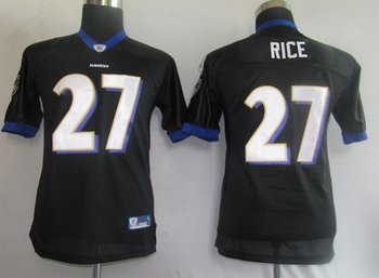 baltimore ravens 27# rice black [kids