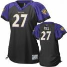 baltimore ravens 27 ray rice black stitched replithentic womennull field flirt fashion jersey