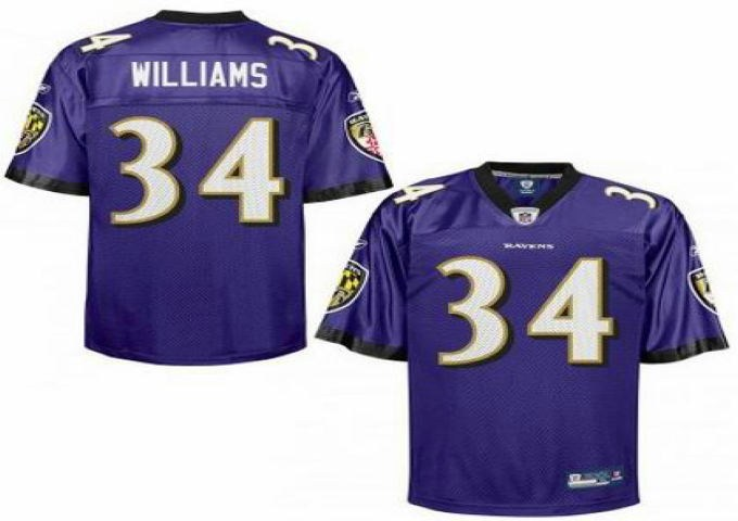 baltimore ravens 34 ricky williams jerseys purple