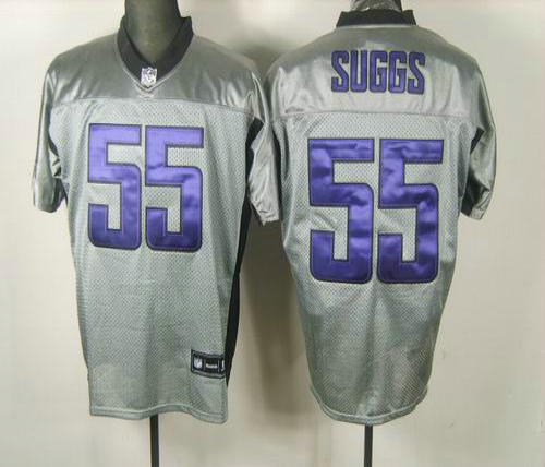 baltimore ravens 55 terrell suggs gray shadow jerseys