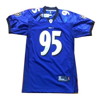 baltimore ravens 95 jarret johnson purple jersey