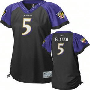 baltimore ravens womennull joe flacco #5 black jersey