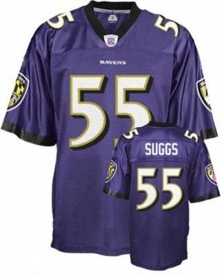 batlimore ravens #55 terrell suggs team blue color jersey