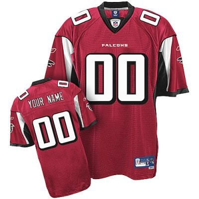 Customized Atlanta Falcons Jersey Eqt Red Team Color Football Jersey
