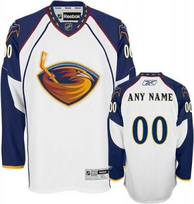 customized atlanta thrashers jersey white road man hockey jersey