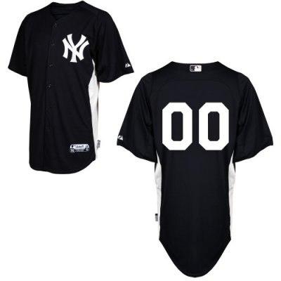 customized new york yankees jersey 2011 black home cool base bp baseball jersey