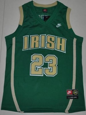 fighting irish #23 lebron james green basketball embroidered ncaa jersey