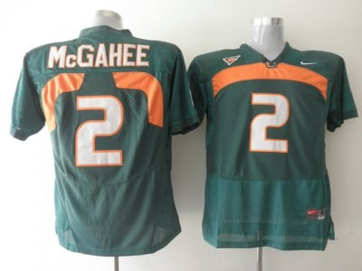 hurricanes #2 willis mcgahee green embroidered ncaa jerseys