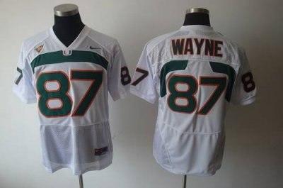 hurricanes #87 reggie wayn white embroidered ncaa jerseys